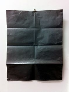 Charley Peters. Untitled Drawing. Graphite on Paper with Folds. 2013