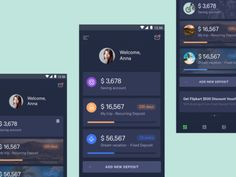 Mobile banking - Dashboard