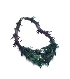by Jounghye Park Abyss of Forest_2_Necklace | Hand-dyed silk, 925Silver, Bamboo | Length 850mm | 2016 | Contemporary Jewelry | Photography by Studio Munch