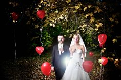 #wedding #photography #flash #bride #groom #baloons
