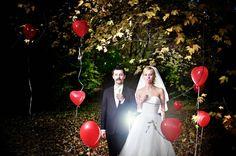#wedding #photography #flash #bride #groom #baloons