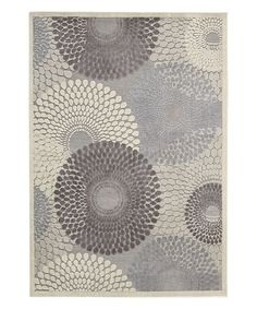 Look at this Gray Graphic Illusions Rug on #zulily today!