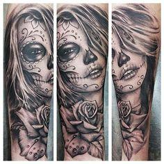 New Tattoo Frauen Gesicht Ideas Tattoos Motive, Neue Tattoos, Body Art Tattoos, Sleeve Tattoos, Hand Tattoos, Tattoo Girls, Girl Tattoos, Tattoos For Guys, Tattoo Gesicht