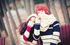 Kfashion; k-fashion ; Korean fashion ; Ulzzang couple