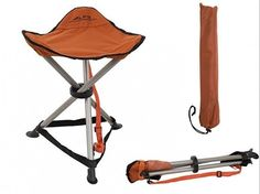 Folding Tripod Stool With Carrying Bag Camp Stools Fishing Seat Outdoor  Chair #FoldingTripodStoolWithCarryingBag