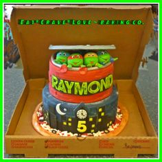 Teenage Mutant Ninja Turtle pizza cake - Cake by Monica@eat*crave*love~baking co.