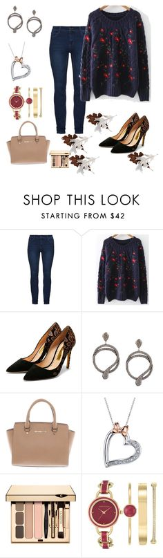 """Untitled #1018"" by lamiss-siyani ❤ liked on Polyvore featuring Rupert Sanderson, Carole Shashona, Michael Kors, Disney and Anne Klein"