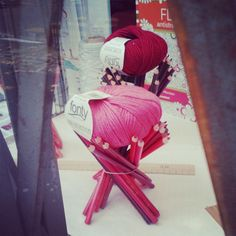 @janettesvn Instagram photos | Great window display #LaCroixetlaManière #wool #yarn #pencils #shopwindowsofParis #amazingColour #Paris11 #rueFaidherbe #instaparis #igersparis