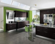 Best Images Green kitchen cabinets ideas on #kitchen cabinets# | See more ideas about Green kitchen cupboards, Green kitchen and Green home furniture.
