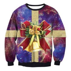 6244cff605e Adult Ugly Christmas Sweater Funny Sweatshirt Long Sleeve Pullover