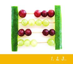 Tellen met groente en fruit