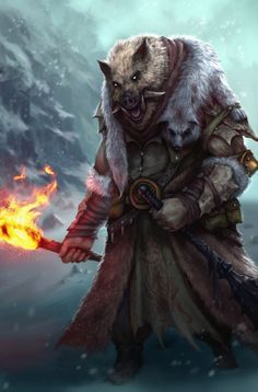 Boar by Plutus Su on ArtStation. Alien Character, Character Concept, Character Art, Concept Art, Character Design, Fantasy Races, Fantasy Rpg, Fantasy Beasts, Dnd Characters