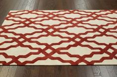 Rugs USA Elegance Cotton and Wool Trellis VST28 Red Rug