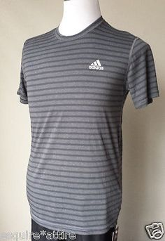 #t-shirts for sale: Adidas men athletic t-shirt size S short sleeve NWT gray with stripes withing our EBAY store at  http://stores.ebay.com/esquirestore
