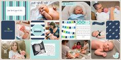 Layout by Vanessa Laurnoff. Features the Baby Boy Edition, Baby Boy Edition Photo Overlays, Baby Boy Edition Stickers