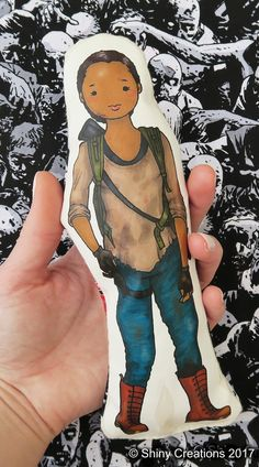 Sasha Williams- The Walking Dead inspired cartoon, cuddly, fabric, doll, plushie, plush, collectible, TV show, comic book, character - £9.00