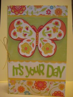 cards made with cricut florals embellished | It's Your Day | Florals Embellished