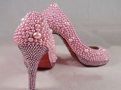 Pink Pearl Crystal Shoes  LOVE - OUCH !!