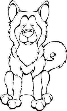 Alaskan Malamute Decal Dogs Car Window Decals by Angry Squirrel Studio Coloring Sheets, Coloring Books, Coloring Pages, Dog Table, Dog Coloring Page, Acrylic Painting Techniques, Cartoon Drawings, Cartoon Dog, Alaskan Malamute