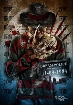 A Nightmare on Elm Street is a top three horror franchise. An imaginative premise with a creepy but very popular villain Freddy Krueger kept me looking forward to seeing what they would come up with from film to film. Creepiest Horror Movies, Scary Movies, Freddy Krueger, Harey Quinn, Horror Artwork, Horror Movie Characters, Dark Disney, Horror Icons, Iconic Movies