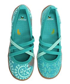 Another great find on #zulily! Turquoise Fresh Spin in Practice Flat by CHOOZE #zulilyfinds