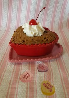 """""""Hearty"""" Valentine's Day Cookie for Two Valentines Day Cookies, Friday, Healthy, Cake, Desserts, Food, Tailgate Desserts, Deserts, Kuchen"""