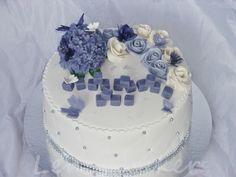 Lenes Kakeverden: Lavendel og hvit konfirmasjonskake til Thea