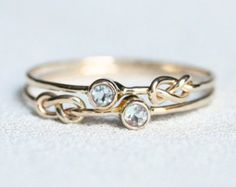 Tiny Delicate Natural AAA Opal 14k Ring Solid 14k by MARYJOHN