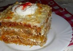 Érdekel a receptje? Kattints a képre! Slovak Recipes, Hungarian Recipes, Pork Recipes, Cake Recipes, Cooking Recipes, Quiche Muffins, Vegetable Casserole, Good Food, Yummy Food