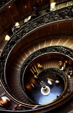 Stairs at Vaticano Museum in Rome (Italy)