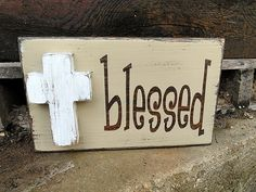 Blessed Art Block by MagnoliaMarket on Etsy, $22.00