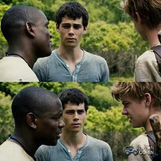 Alby,Thomas,and Newt James Dashner, Maze Runner Series, Thomas Brodie Sangster, Dylan O'brien, Teen Wolf, Book Series, Couple Photos, My Love, Books