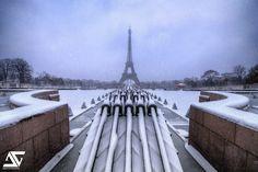 https://flic.kr/p/dUshh6 | Snow cannon | Tour Eiffel, Paris, France (HDR)  My Facebook / My Google+
