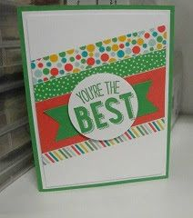 Stampin' Studio, Stampin' Up!  Friendly Wishes, Cherry On Top DSP, Triple Banner Punch