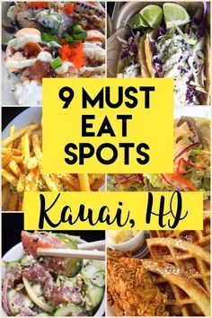 9 Must Eat Spots // Kauai, Hawaii 9 MUST EAT SPOTS- Kauai. Hawaii // a Pinch of Luna Poke bowls, sushi burritos, fish tacos and all the fish tacos! Check it out to see the best fish tacos on the island of Kauai, Hawaii! Visit Hawaii, Aloha Hawaii, Hawaii Travel, Hawaii 2017, Hawaii Life, Solo Travel, Lihue Hawaii, Hawaii Trips, Beach Travel