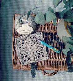 teaandbiscuits_x The start of a blanket for a friend. I've got until September on this one   #teaandbiscuitshappyhooker #amydorr #debbieblissyarn #lacebabyblanket #pedrosplaques #crochetersofinstagram #wipsandblooms #wip