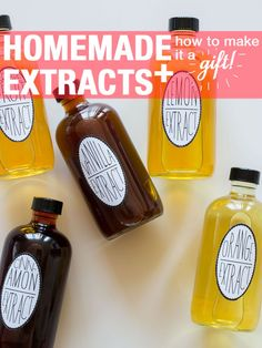 I made homemade vanilla extract for Christmas gifts and it was a huge hit! Can't wait to try the rest of DIY extracts: vanilla, cinnamon, lemon, orange & grapefruit. (Simple recipes for each, plus packaging ideas for giving them as gifts) Do It Yourself Food, Do It Yourself Design, Do It Yourself Inspiration, Homemade Gifts, Diy Gifts, Homemade Spices, Homemade Seasonings, Homemade Food, Spoon Fork Bacon