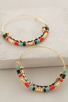 #anthroregistry Gas Bijoux Harlequin Hoops