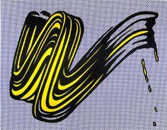 Brushstroke, 1965 - Roy Lichtenstein - Screenprint on heavy, white wove paper, 23 x 29 inches, 58.4 x 73.6 cm