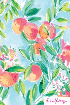 Fresh Squeezed! - Lilly Pulitzer x Starbucks 2017 Peach Background, Background Pictures, Lilly Pulitzer Patterns, Lilly Pulitzer Prints, Lily Pulitzer Painting, Pattern Art, Print Patterns, Lilly Pulitzer Iphone Wallpaper, Pattern Wallpaper
