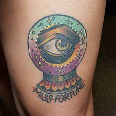 Healed all seeing eye crystal ball! #tattoo #tattooing #tattoos…