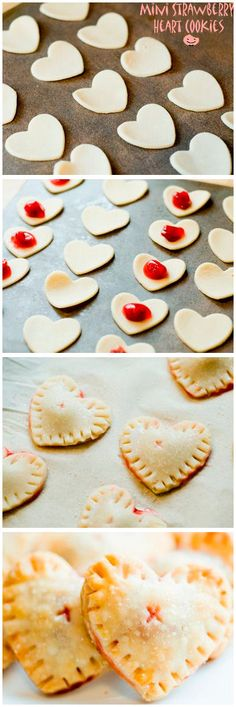 Mini Heart Strawberry Cookies ❤︎ Only 10 Mins & 4 Ingredients!!!