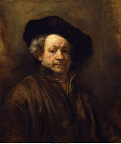 When younger for some unknown reason in my minds eye Rembrandt was a more dashing, cavalier looking man.  I don't know why I thought that, but however one cannot deny his mastery.  Rembrandt - Self-Portrait (with Black Beret), 1660