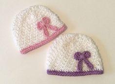 Crochet Twins Hats Preemie Cap Head Ear by Crochet2Cherish4You