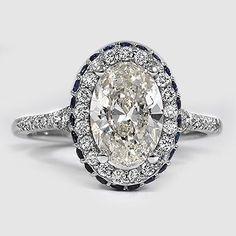 18K White Gold Circa Diamond Ring with Sapphire Accents | Brilliantearth.com