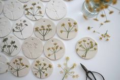 Fennel tags  This could be done with salt dough, clay, or cinnamon dough. Like the pattern - pillows ?