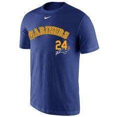 Ken Griffey Jr. Seattle Mariners Nike Player Signature T-Shirt - Royal
