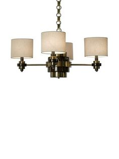 50% OFF Allison Davis Bombay Chandelier, Brass/Brown