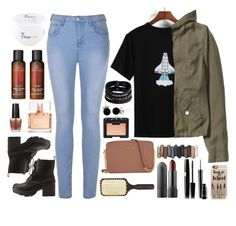 """""""To the moon and back"""" by bemack ❤ liked on Polyvore featuring Charlotte Russe, Ally Fashion, Replay, Bling Jewelry, Michael Kors, Urban Decay, Givenchy, Ibiza Hair, OPI and H&M"""