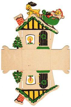 Paper Christmas Decorations, Christmas Paper Crafts, Miniature Christmas, Christmas Makes, Retro Christmas, Christmas Activities, Christmas Printables, Christmas Ornaments, Shabby Chic Xmas